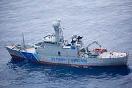 buque de inspección de pesquerías de la UE