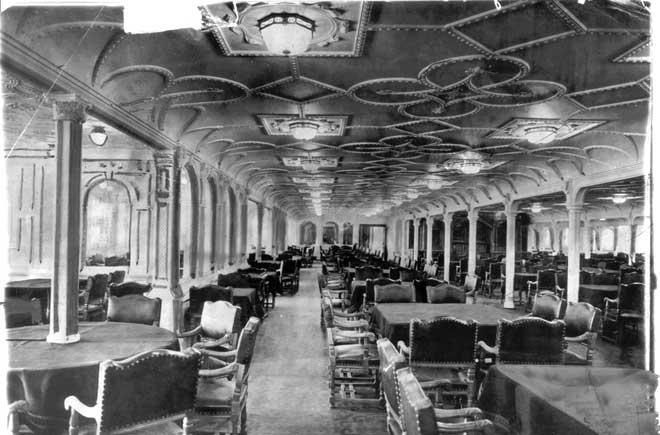 comedor del Titanic, 1912