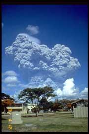 erupción monte Pinatubo en 1991