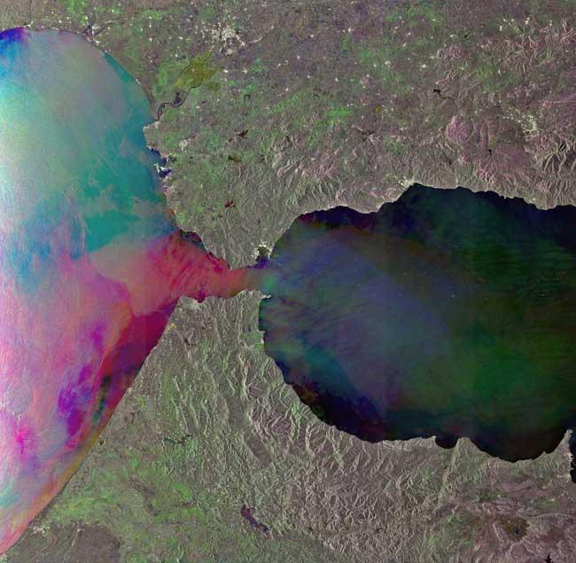 Estrecho de Gibraltar, imagen ESA