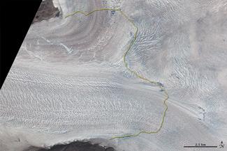 glaciar Jacobshavn, Groenlandia en 2001