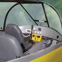 hovercraft volador, cabina