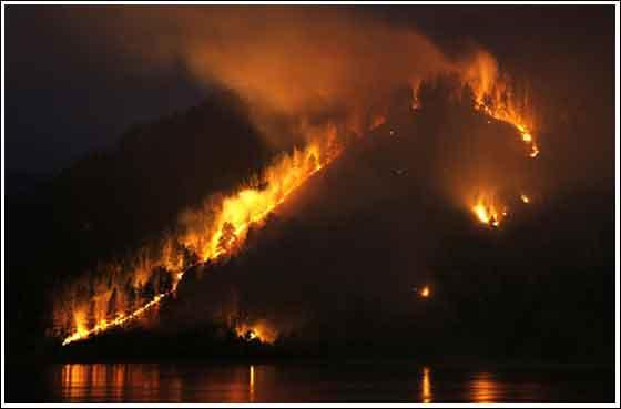 incendio en el lago Baikal, Rusia