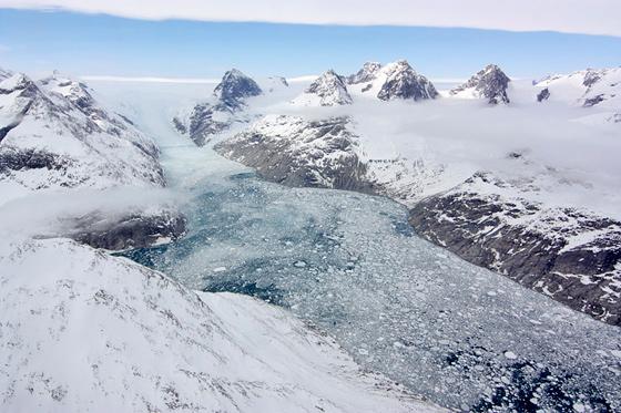 lengua de un glaciar en el sur de Groenlandia