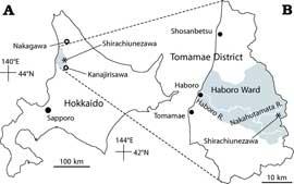 mapa Hokkaido