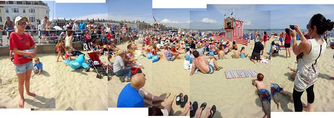 mosaico fotográfico playa de Weymouth