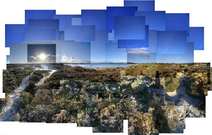 mosaico de fotografico Shell Bay