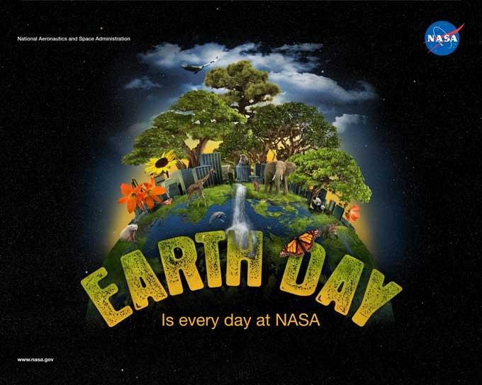 Poster NASA día de la Tierra 22-04-2012