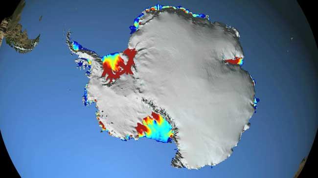 altimetría laser de las plataformas de hielo de la Antártida