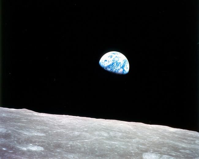 salida de la Tierra desde la Luna - Apollo 8, 1968