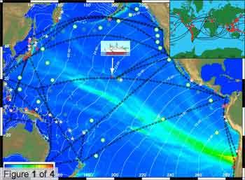 situación del Kilo Moana durante el tsunami de Chile de 2010