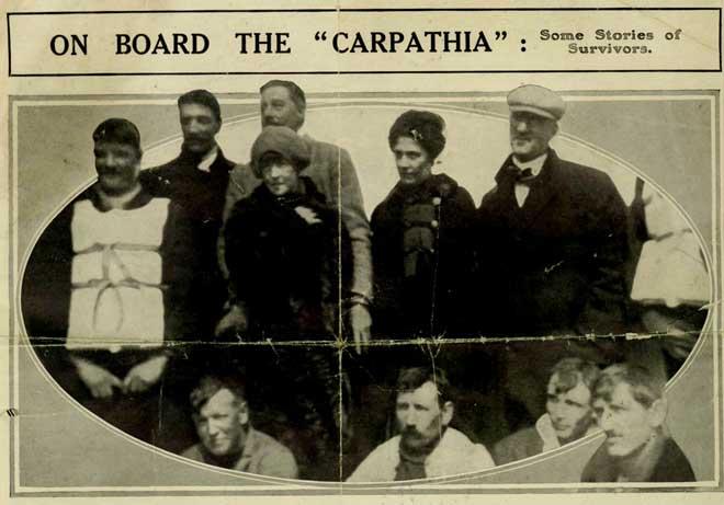 supervivientes del Titanic