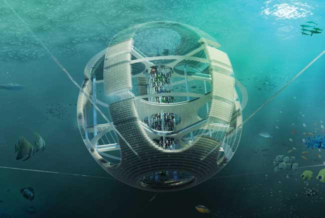 torre de peces de plástico