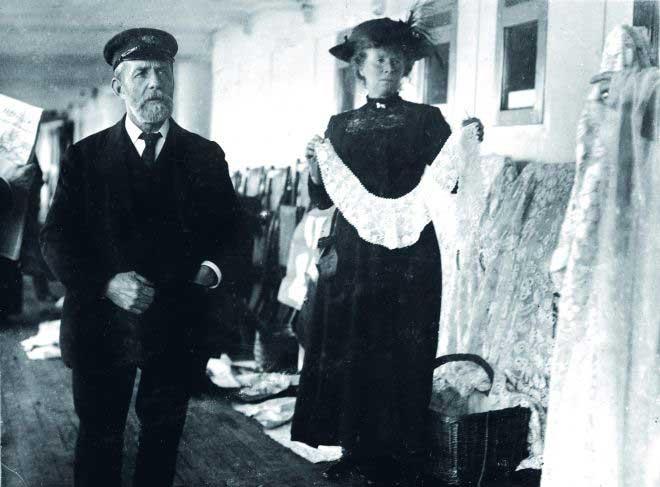 vendedor de encaje irlandés en el Titanic