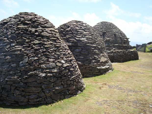 chozas de pidra isla Skellig Michael, Irlanda