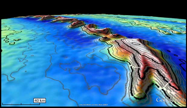 El CryoSat topografía el fondo marino