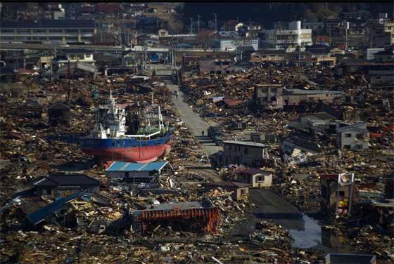 destrucción del tsunami de Japón de 2011