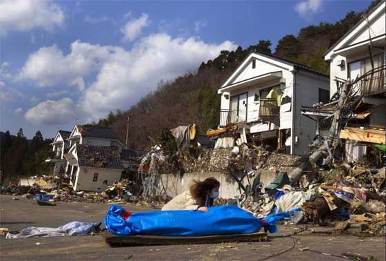 destrucción tras el tsunami de Japón de 2011