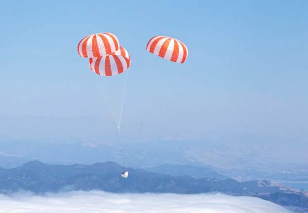 el Dragon de SpaceX ameriza en el Pacífico