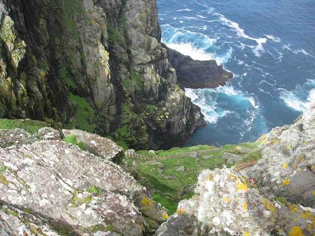 escalera en la isla de Skellig Michael, Irlanda