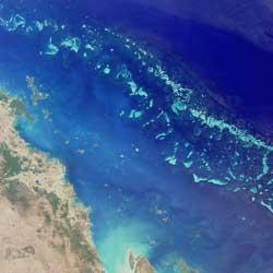 La Gran Barrera de Coral desde el espacio