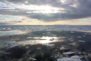 Icescape, investigación sobre el fitoplancton en el Ártico, paisaje