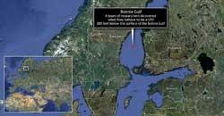 localización misterioso círculo sumergido en el Mar Báltico