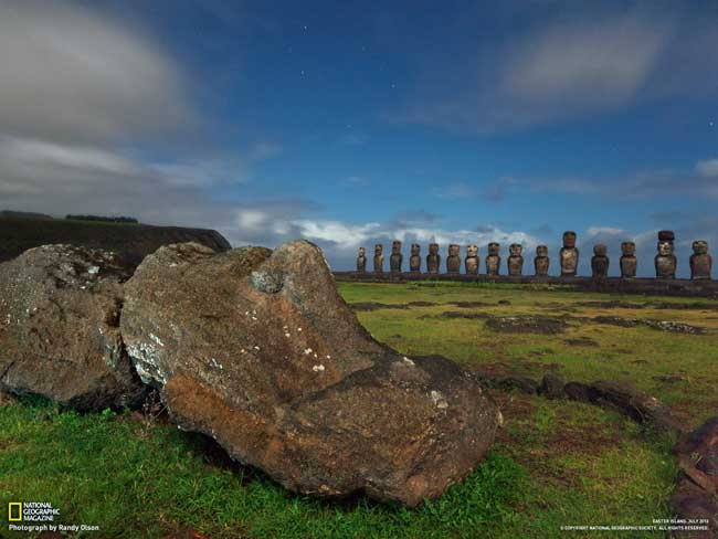 estatuas moais de la Isla de Pascua