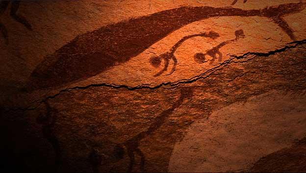 pinturas rupestres de humanoides en Egipto