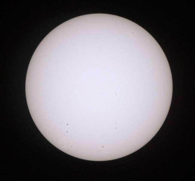 test solar para el tránsito de Venus