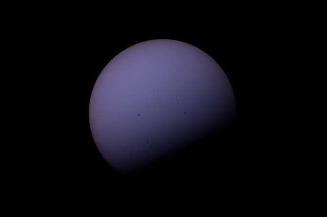 tránsito de Venus 2012 desde la Estacián Espacial Internacional
