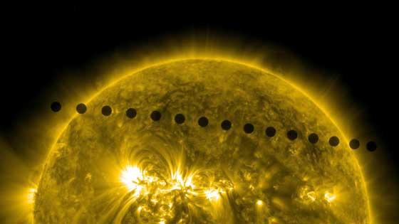 tránsito de Venus captado por el Observatorio de Dinámica Solar (SDO)