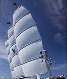 velero de carga B9 Shipping, velas