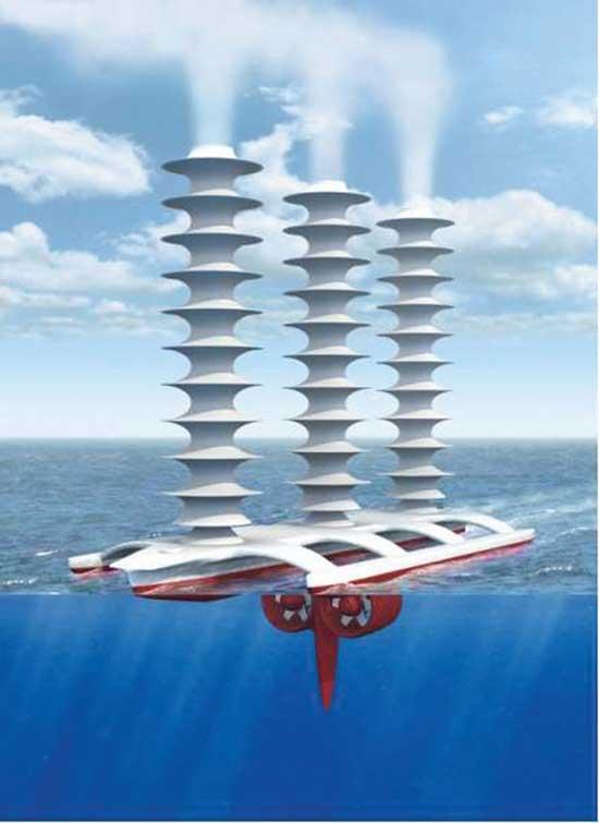 barco para crear nubes en el mar contra el calentamiento