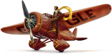 Google doodle en honor de Amelia Earhart