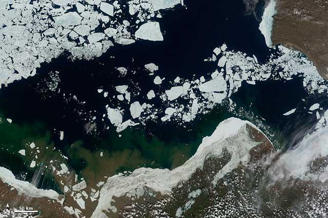 hielo marino en el mar de Beaufort, junio de 2012