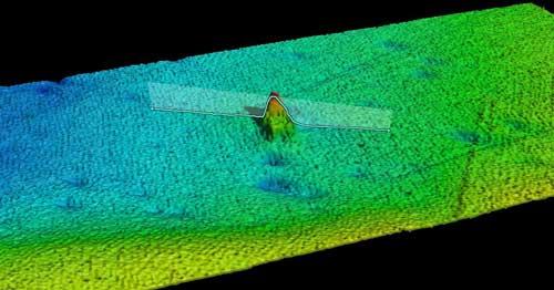 pecio de Terra Nova visto con el sonar