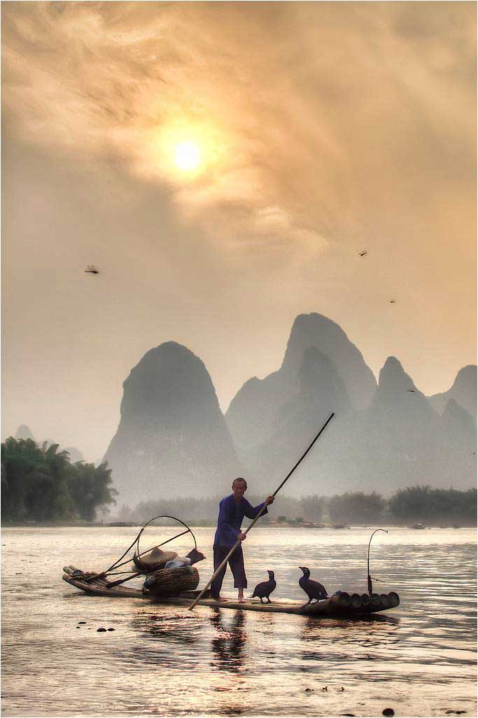 pesca con cormoranes
