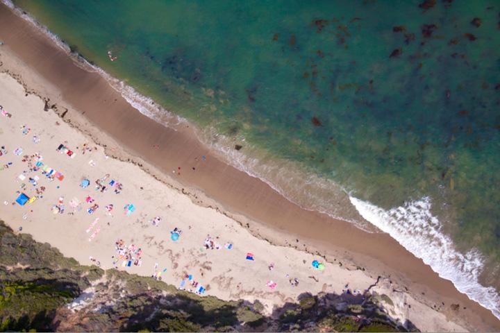 playa en el Mar Caribe, América central