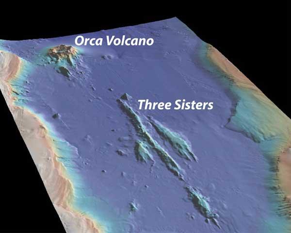 volcán submarino en el estrecho de Bransfield, Antártida
