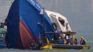 barco hundido en Hong Kong