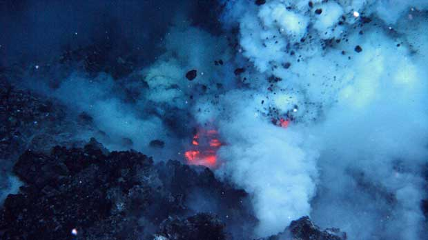 erupción en 2009 del volcán submarino West Mata