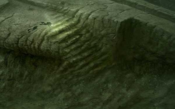 ilustración de escalera en el misterioso objeto del Mar Báltico
