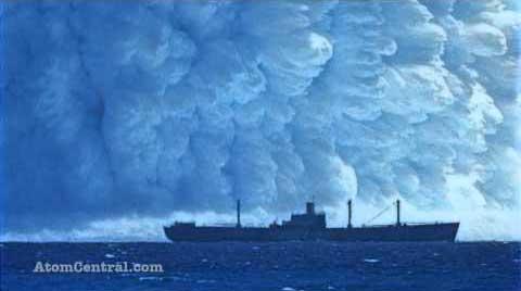 explosión atómica submarina en el Pacífico