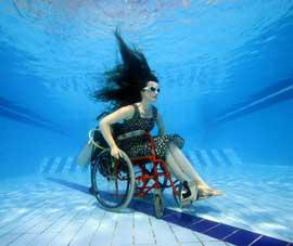 silla de ruedas submarina autopropulsada freewheeling