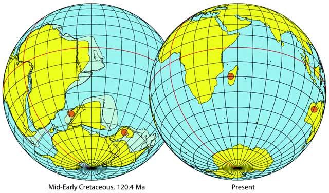 Gondwana y los continentes actuales