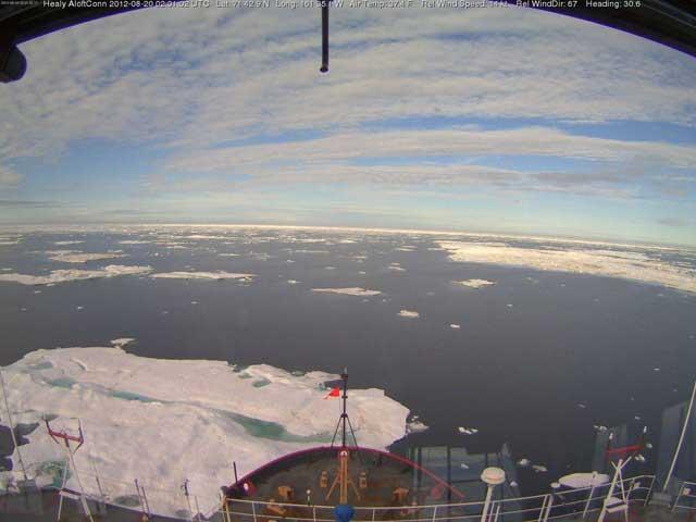 hielo marino disperso en el Ártico