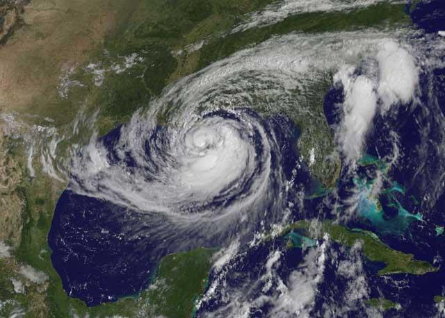 El huracán Isaac sobre el Golfo de México