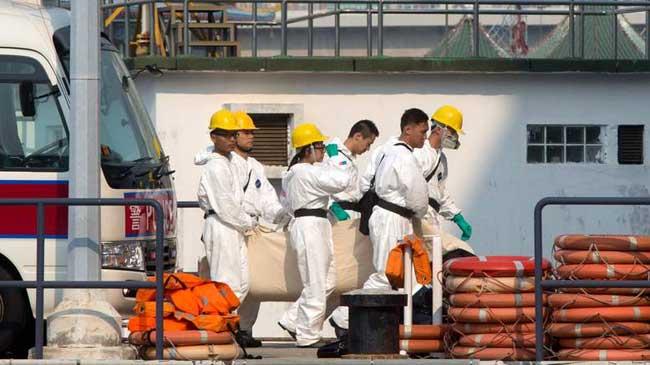 pasajero siniestrado en barco de Hong Kong