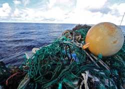 plástico en el océano recogido por Tara